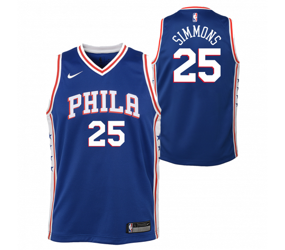 Maillot Nba Enfant Simmons Sixers Swingman Icon