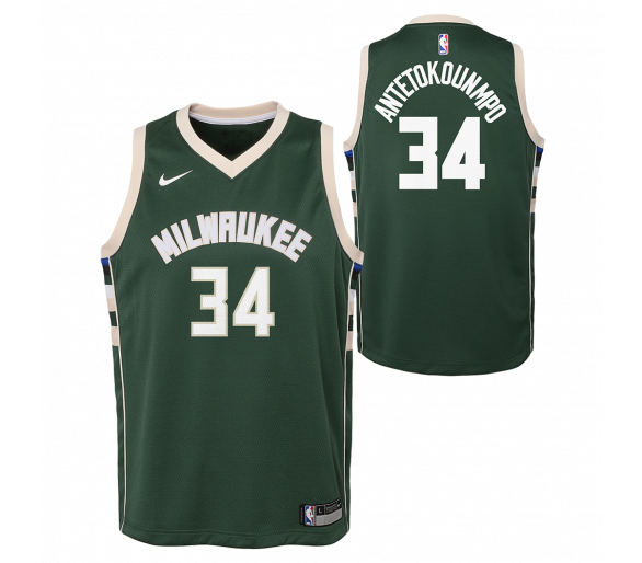 Maillot Nba Enfant Antetokounm Po Bucks Swingman Icon