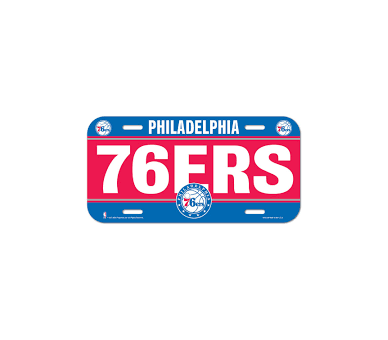 Licence Plate Nba Sixers